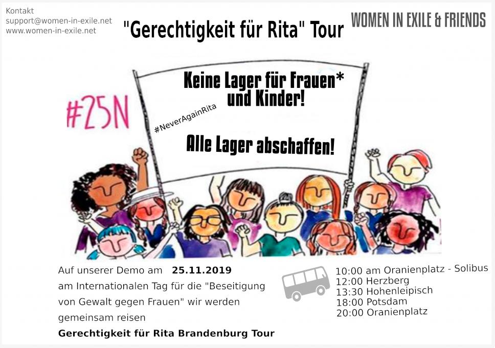 """""""Gerechtigkeit für Rita"""" Tour - Women in Exile & Friends"""