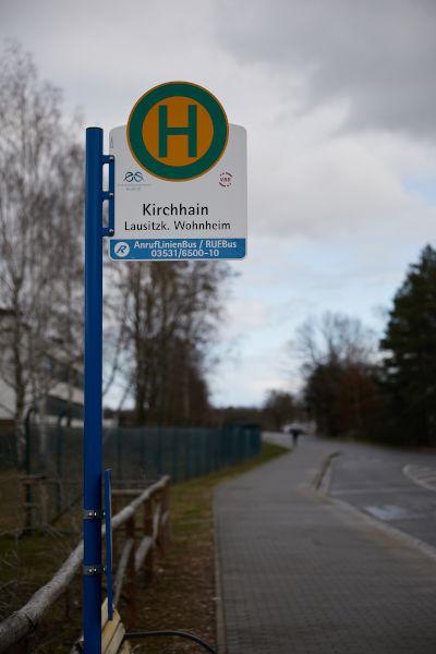 Haltetelle Kirchhain Lausitzk.-Wohnheim