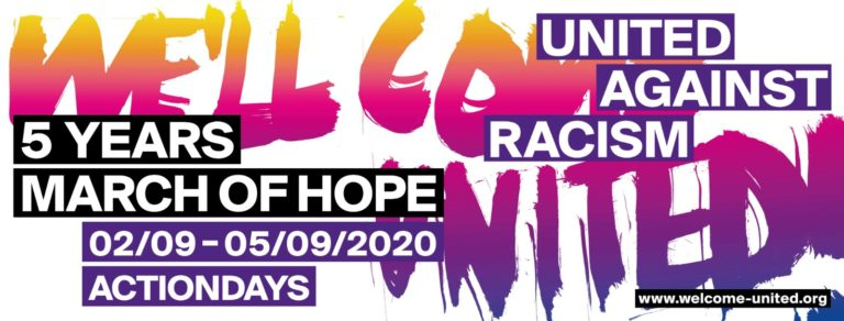 5 Years March of Hope - United Agains Racism. 02/09 - 05/09/2020 Actiondays